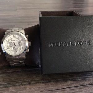 Michael Kors silver oversized watch